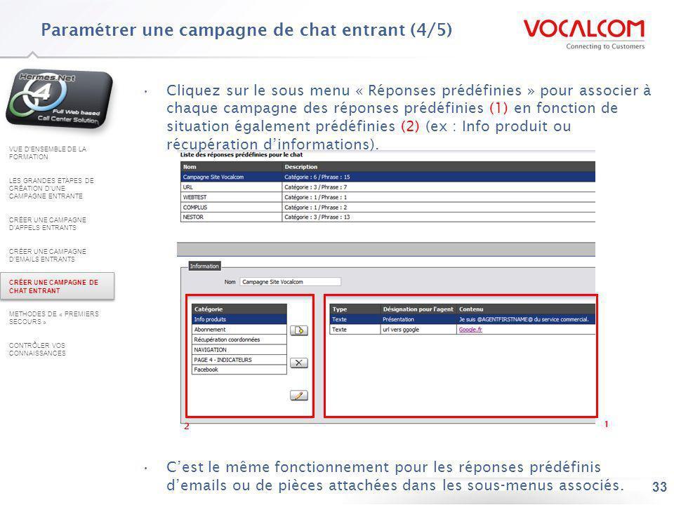 Paramétrer une campagne d'emails entrants (5/5)