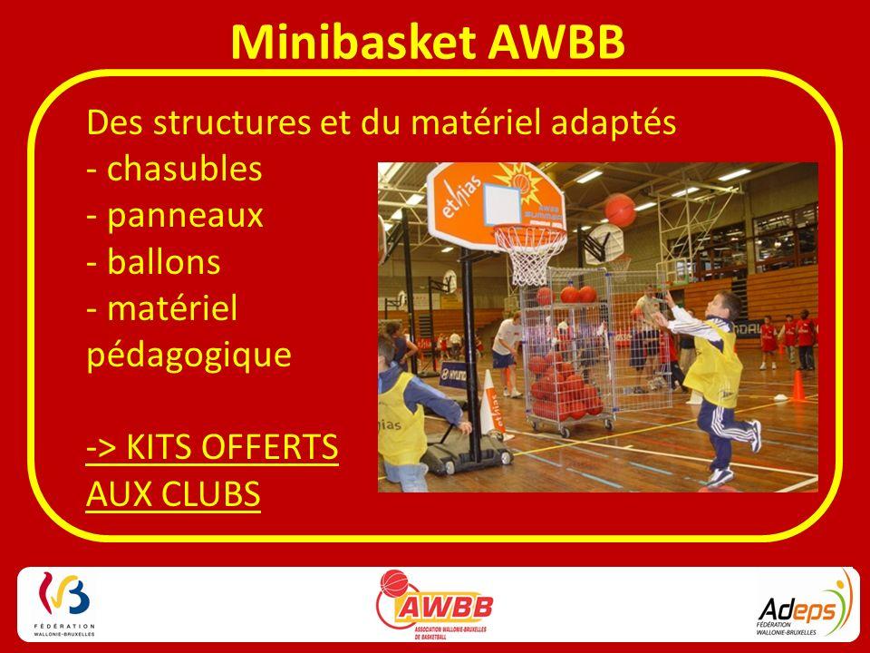 Des structures et du matériel adaptés - chasubles - panneaux - ballons - matériel pédagogique -> KITS OFFERTS AUX CLUBS