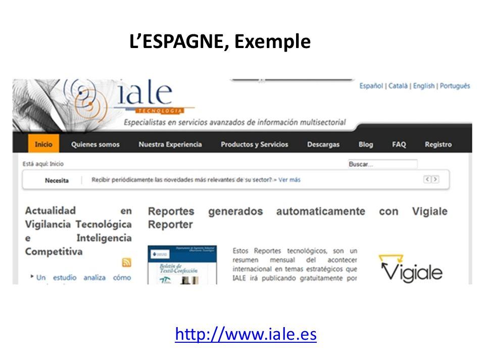 L'ESPAGNE, Exemple http://www.iale.es