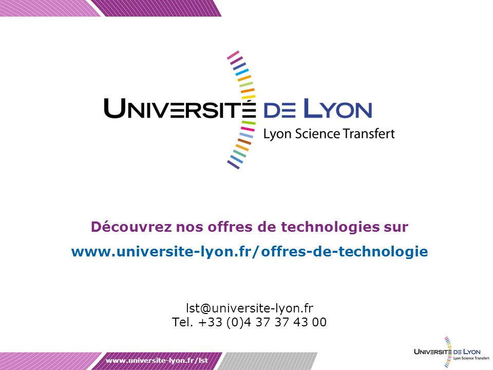 lst@universite-lyon.fr Tel. +33 (0)4 37 37 43 00