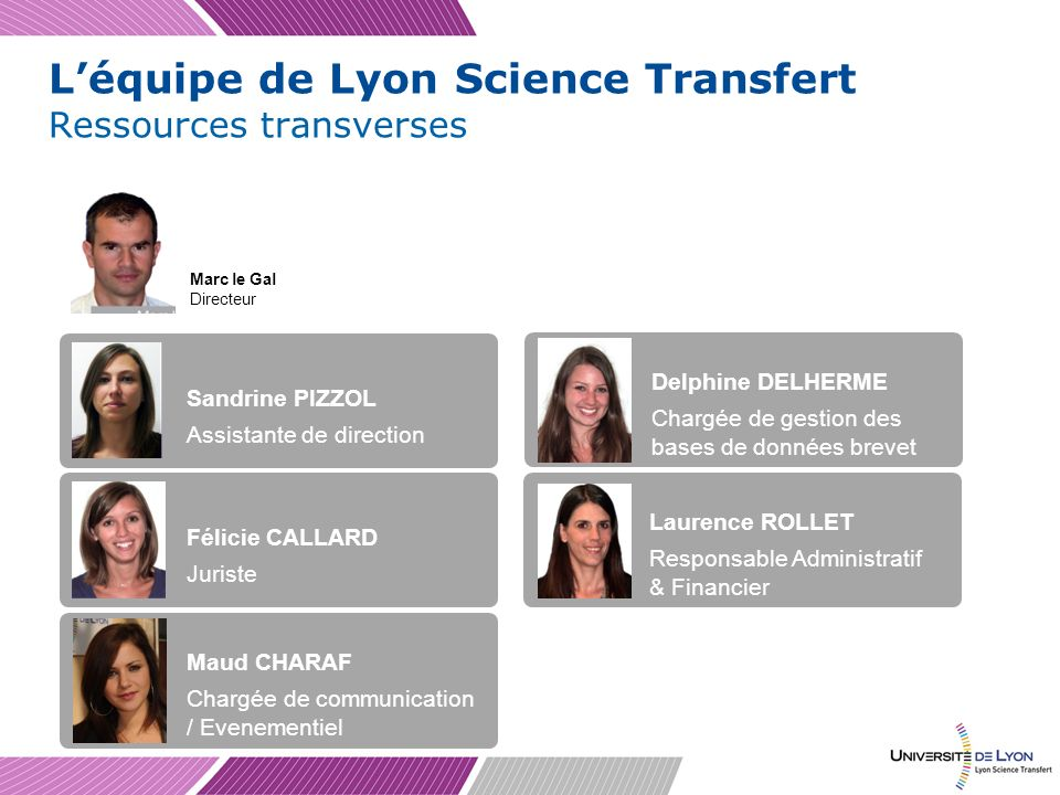 L'équipe de Lyon Science Transfert
