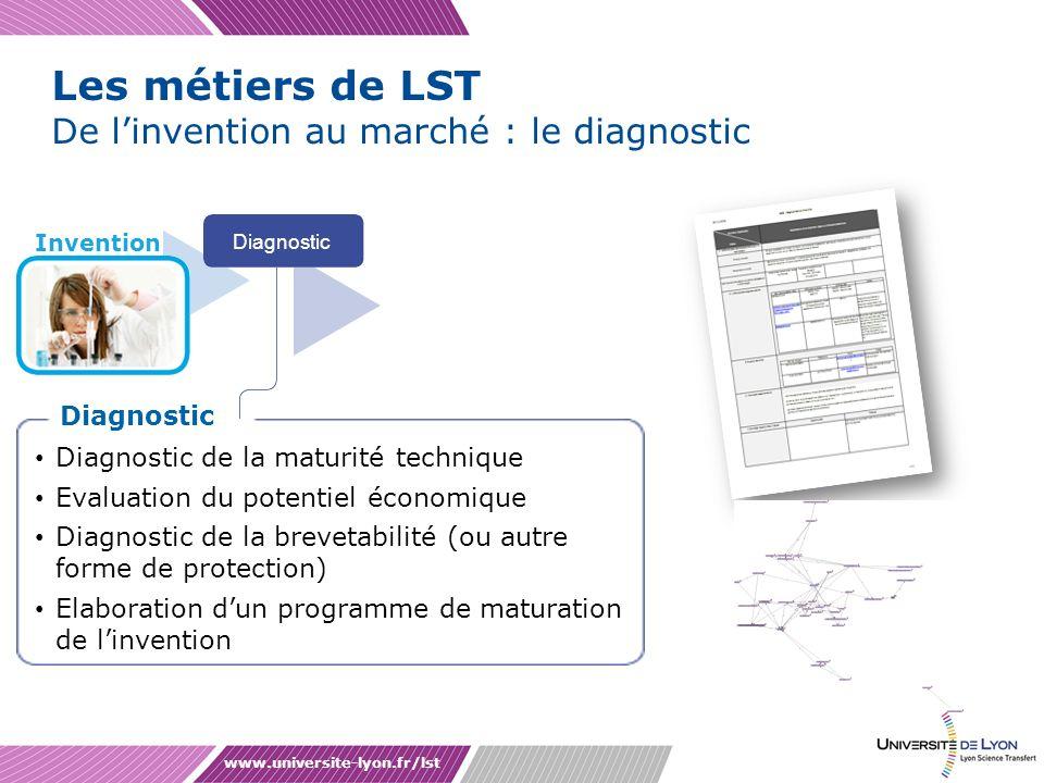 Les métiers de LST De l'invention au marché : le diagnostic Diagnostic