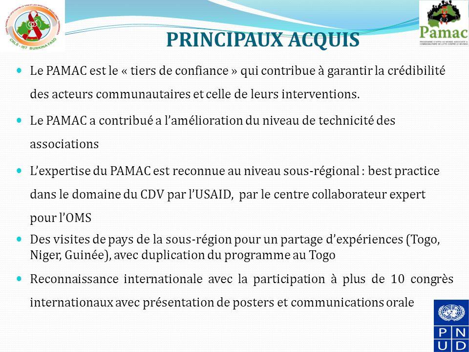 PRINCIPAUX ACQUIS