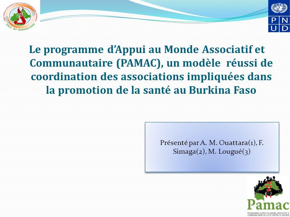 Présenté par A. M. Ouattara(1), F. Simaga(2), M. Lougué(3)