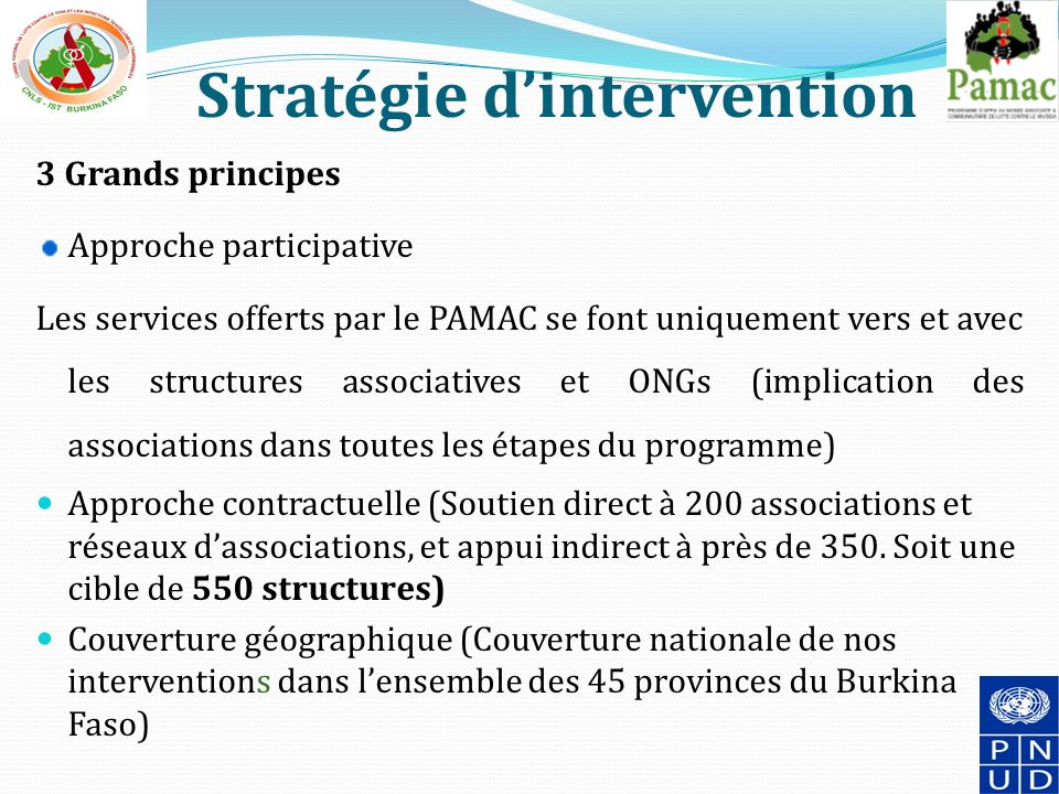 Stratégie d'intervention