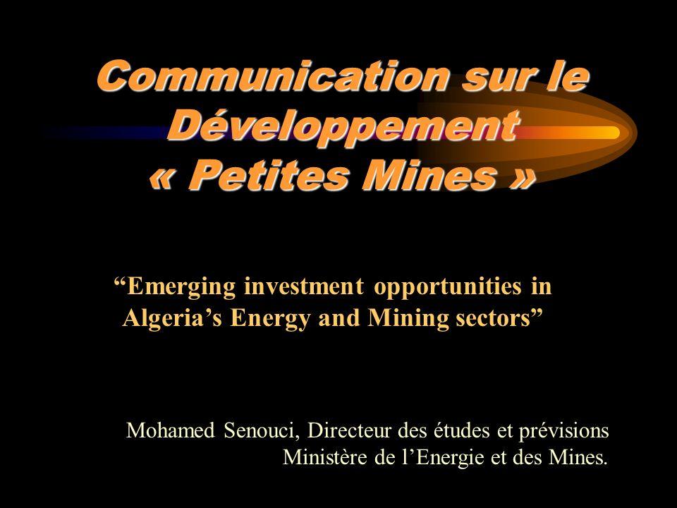 Communication sur le Développement « Petites Mines »