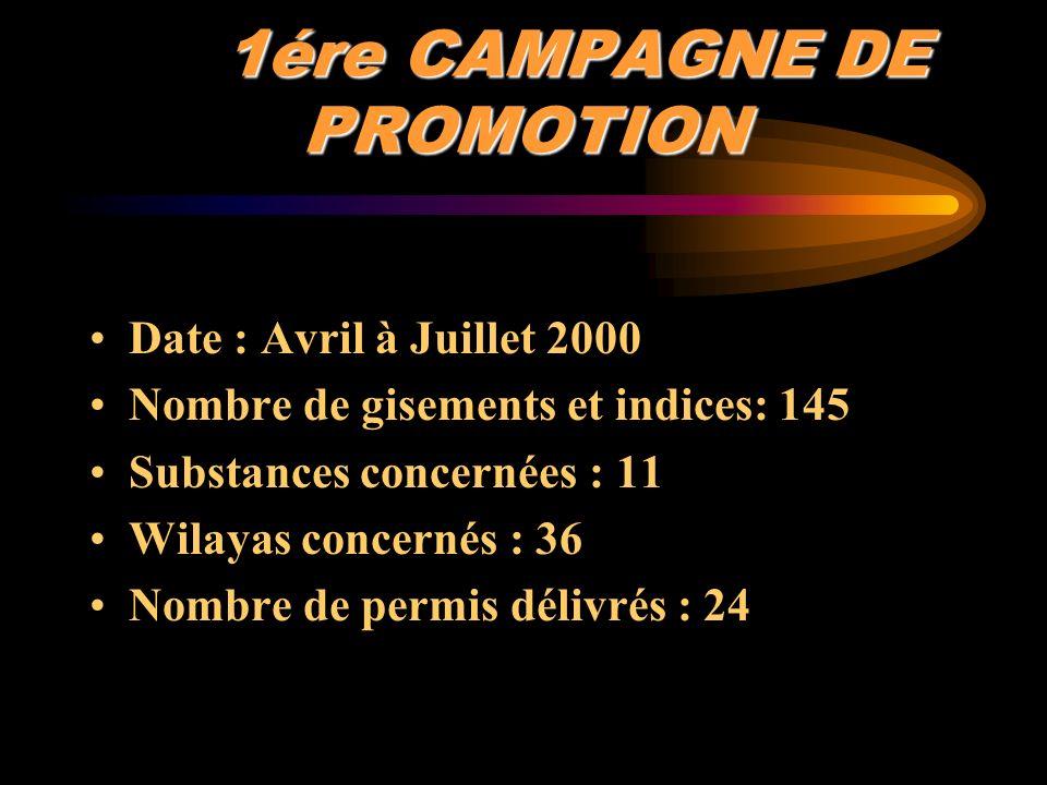 1ére CAMPAGNE DE PROMOTION