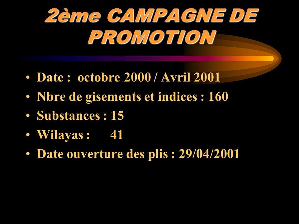 2ème CAMPAGNE DE PROMOTION