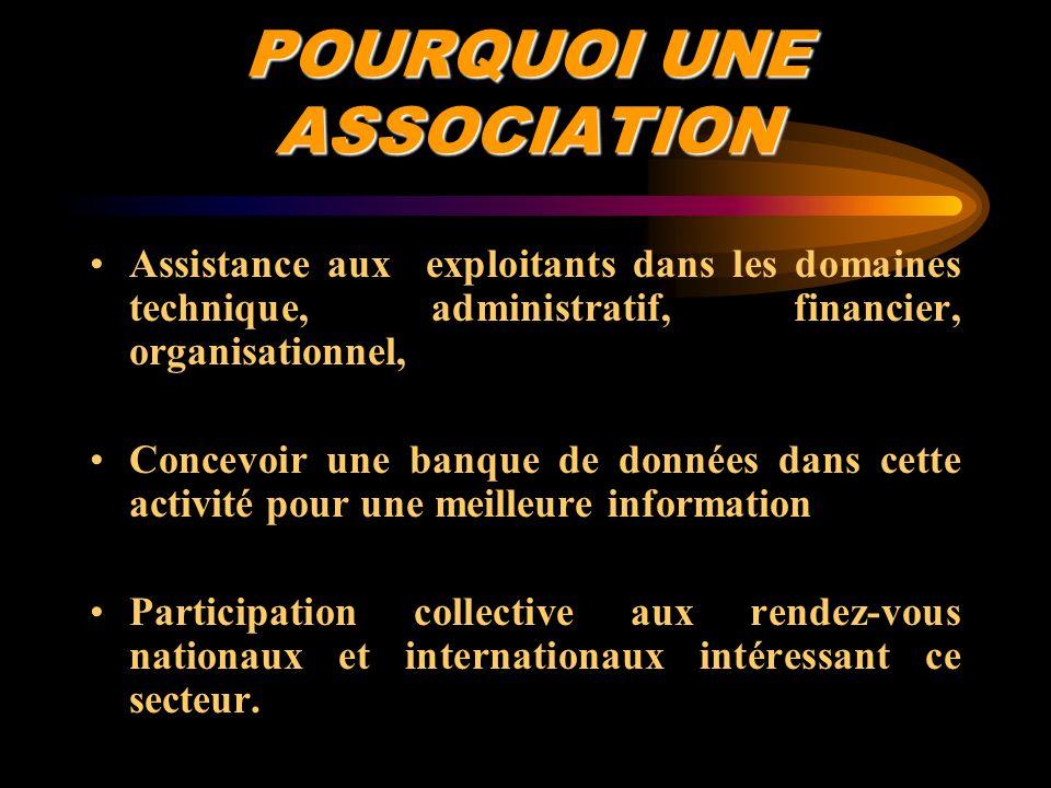 POURQUOI UNE ASSOCIATION