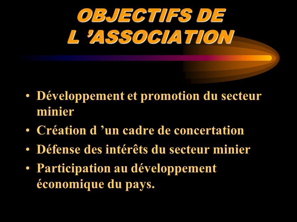 OBJECTIFS DE L 'ASSOCIATION