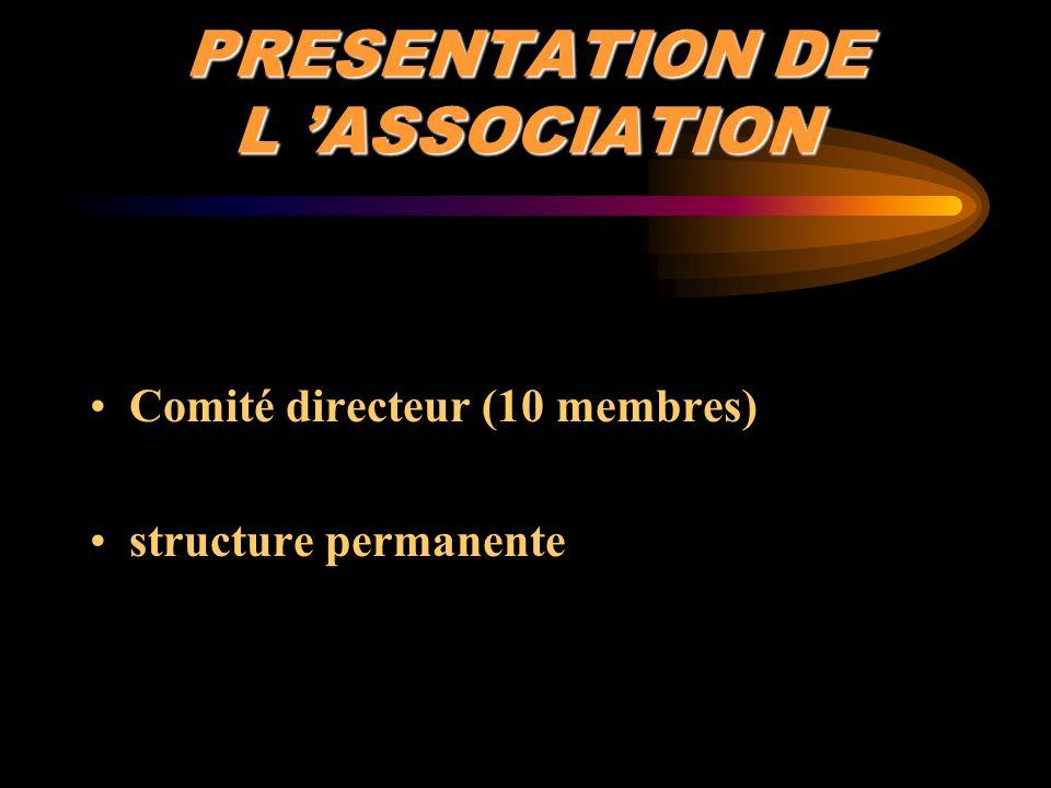 PRESENTATION DE L 'ASSOCIATION