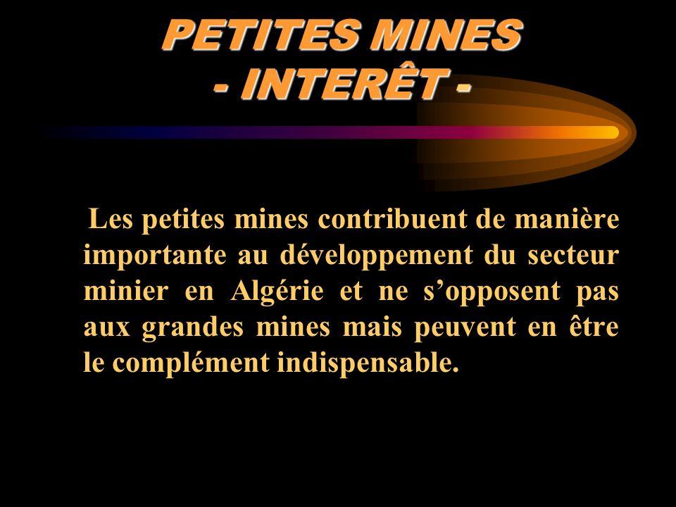 PETITES MINES - INTERÊT -