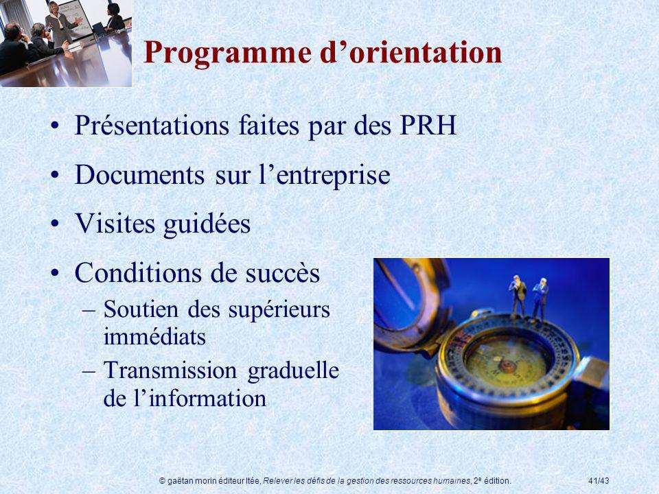 Programme d'orientation