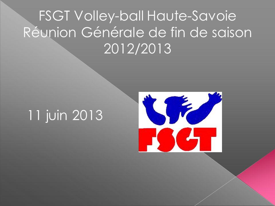 FSGT Volley-ball Haute-Savoie Réunion Générale de fin de saison