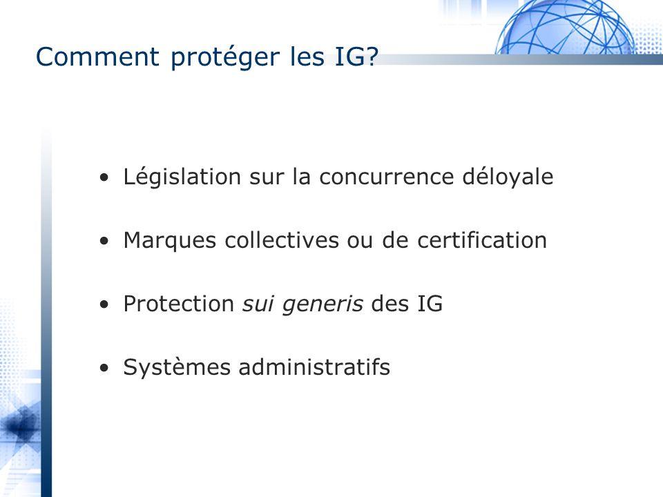 Comment protéger les IG