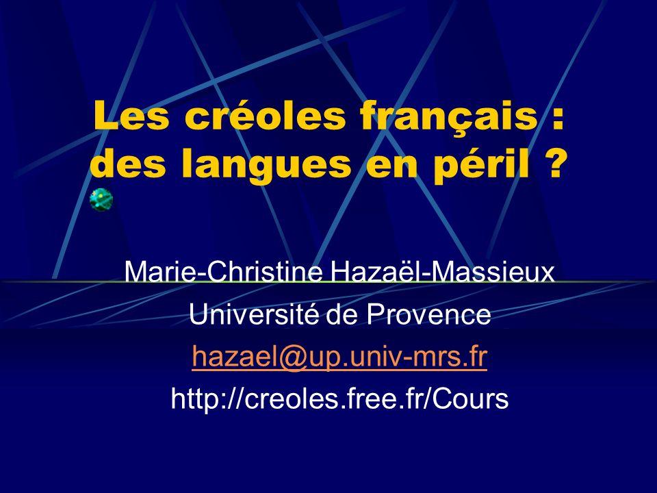 Les créoles français : des langues en péril