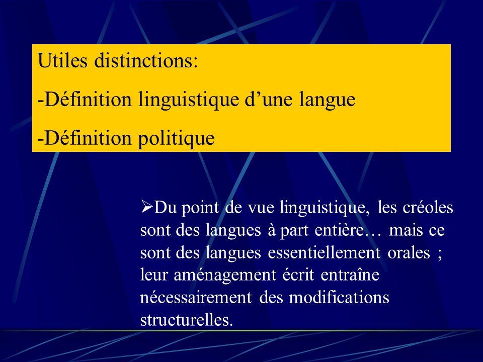 Définition linguistique d'une langue Définition politique