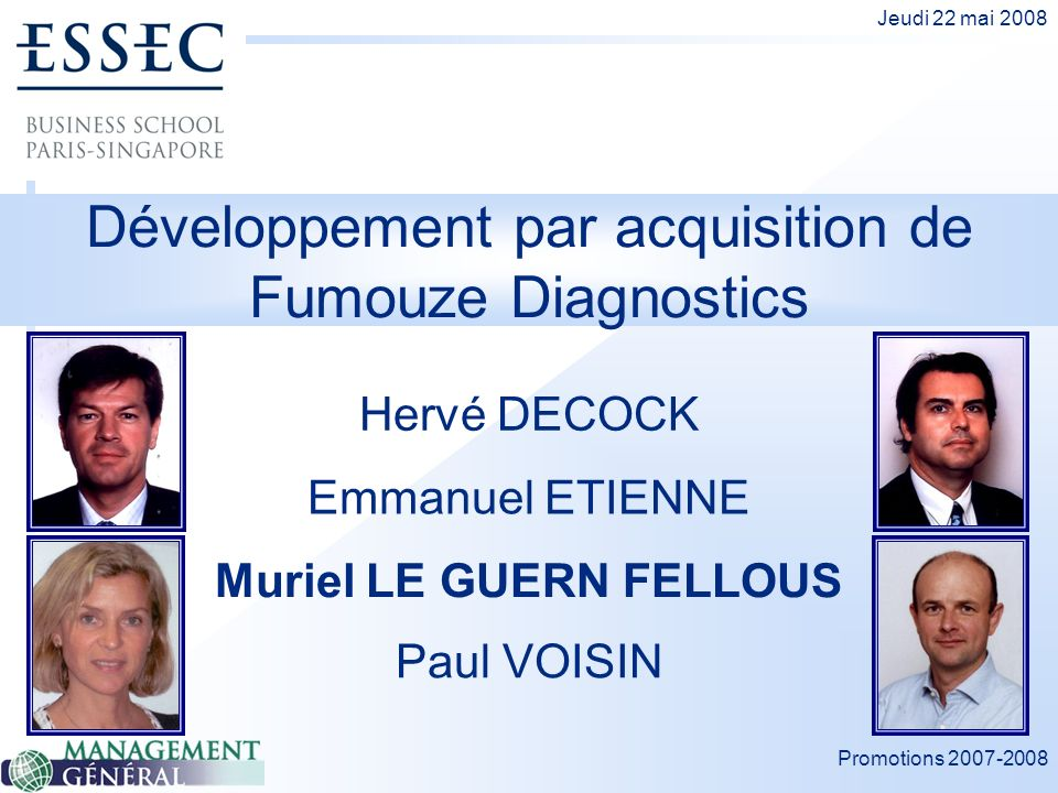 Développement par acquisition de Fumouze Diagnostics