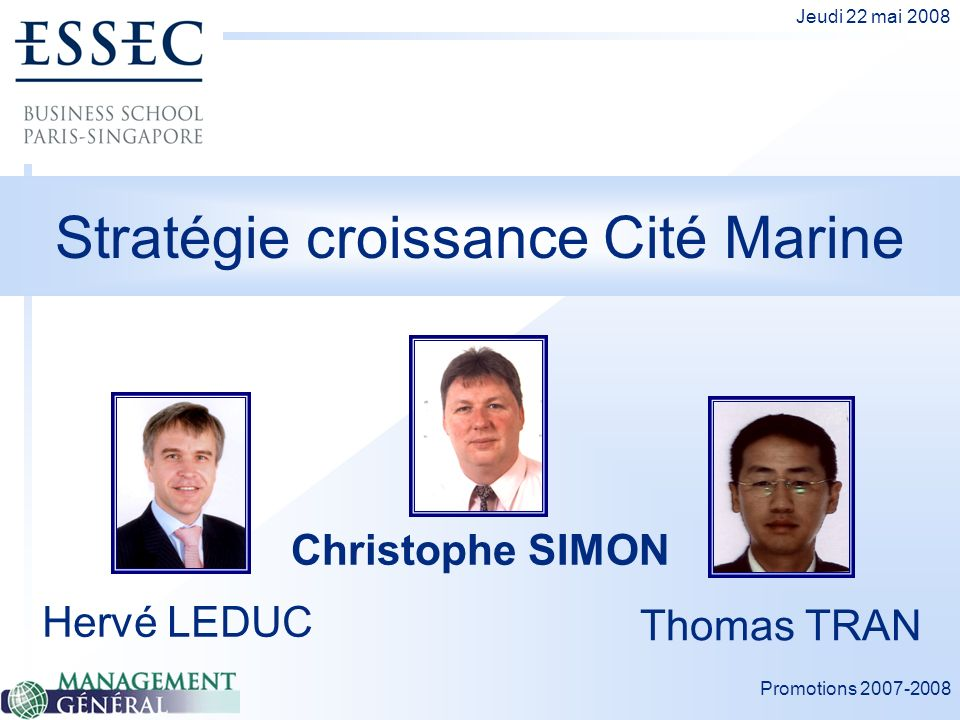 Stratégie croissance Cité Marine
