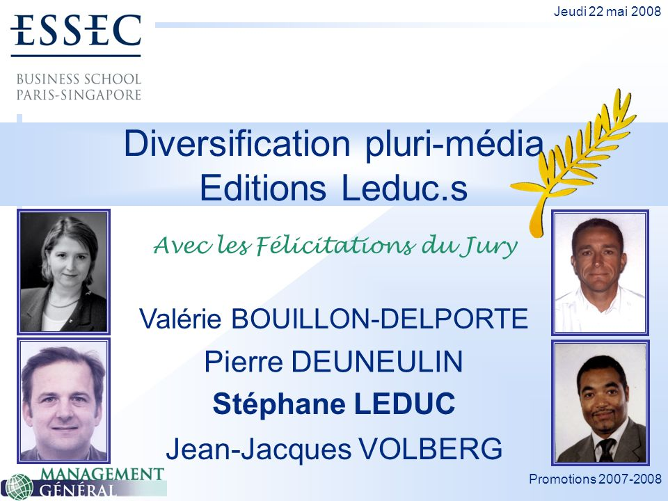 Diversification pluri-média Editions Leduc.s