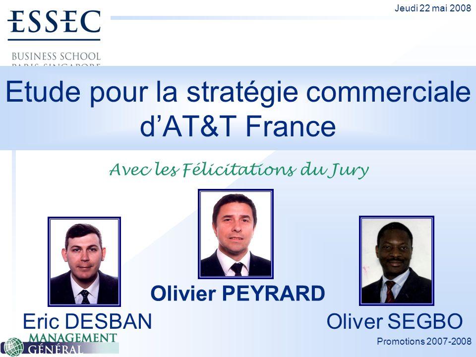 Etude pour la stratégie commerciale d'AT&T France
