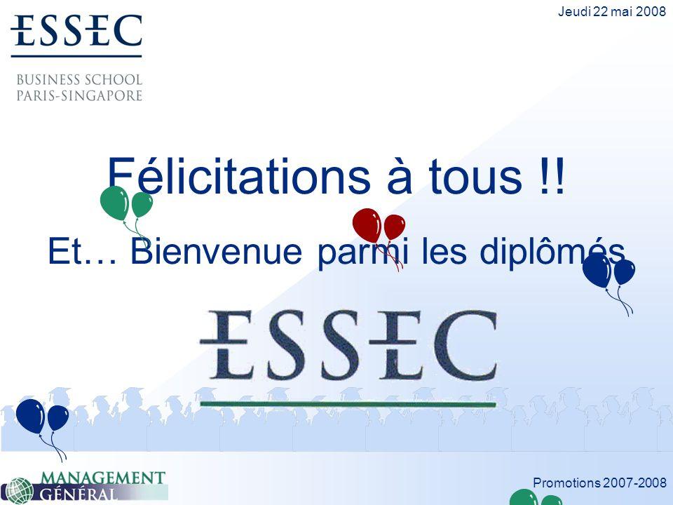 Félicitations à tous !! Et… Bienvenue parmi les diplômés