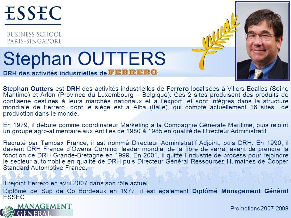 Stephan OUTTERS DRH des activités industrielles de
