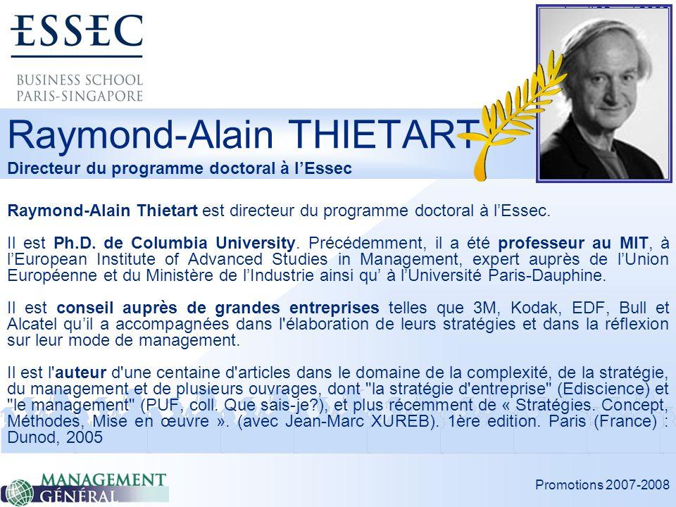 Raymond-Alain THIETART Directeur du programme doctoral à l'Essec