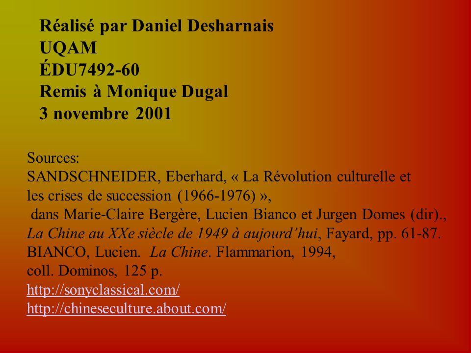 Réalisé par Daniel Desharnais UQAM ÉDU7492-60 Remis à Monique Dugal