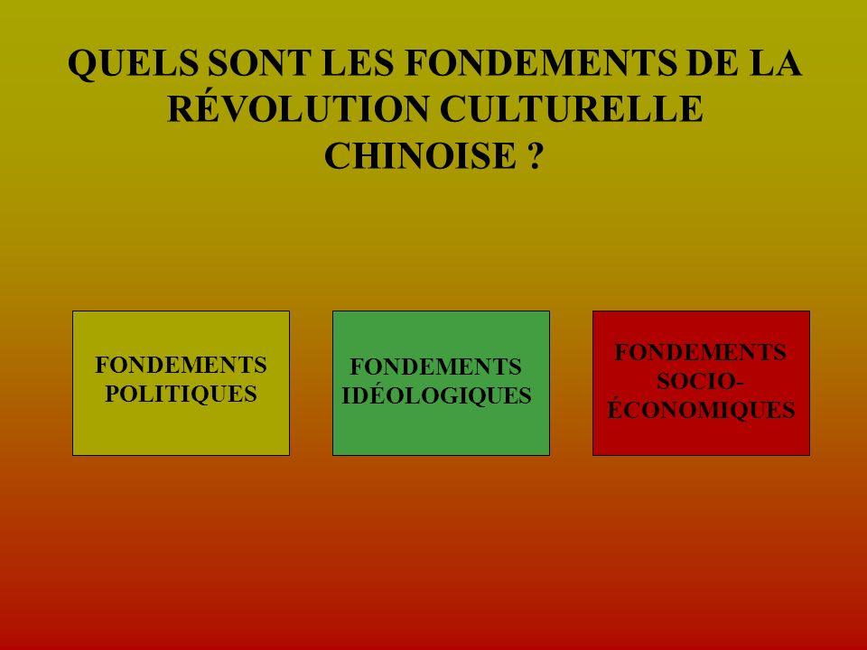 QUELS SONT LES FONDEMENTS DE LA RÉVOLUTION CULTURELLE