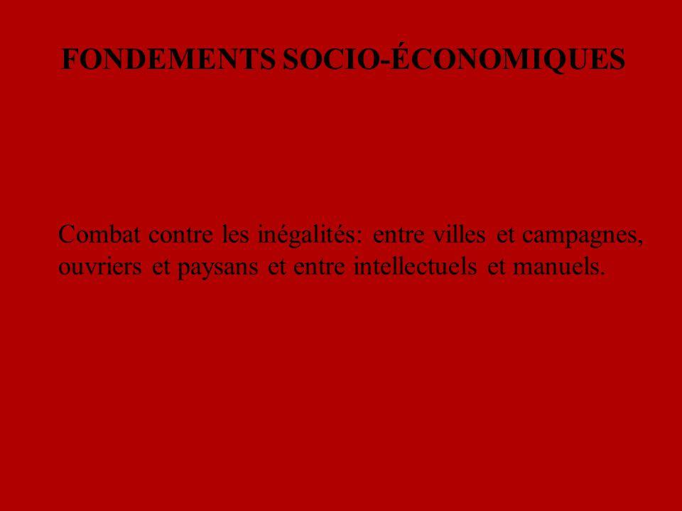 FONDEMENTS SOCIO-ÉCONOMIQUES