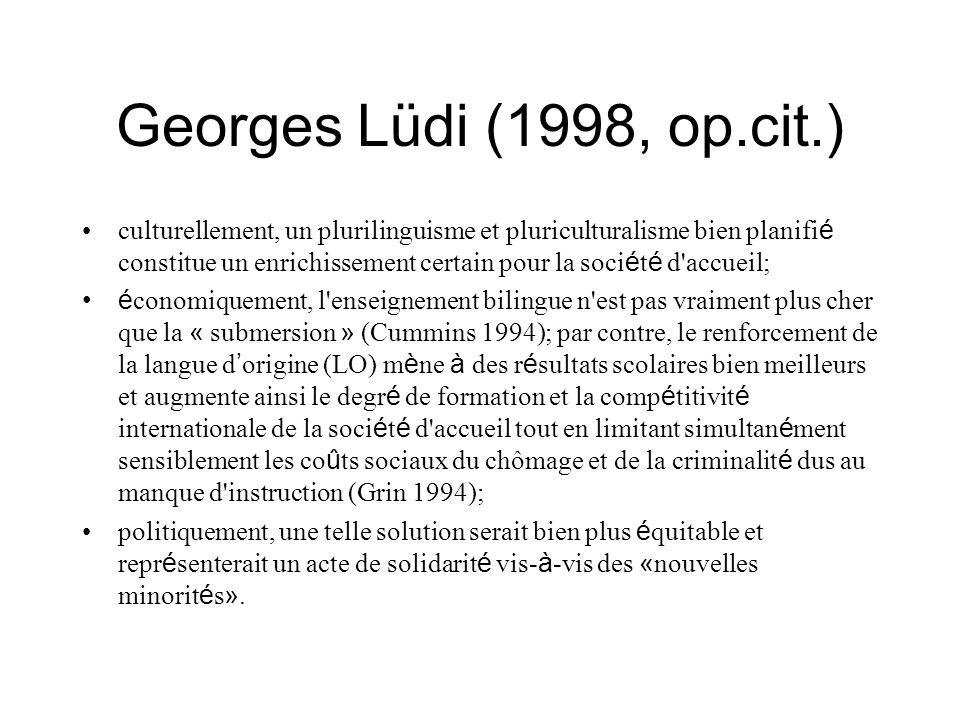 Georges Lüdi (1998, op.cit.)