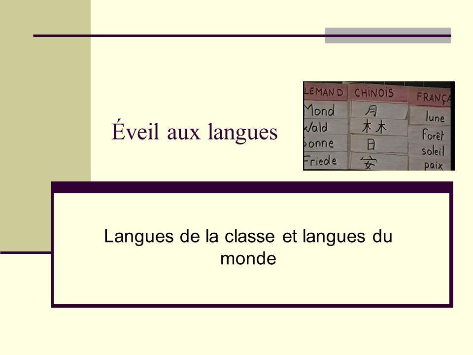 Langues de la classe et langues du monde