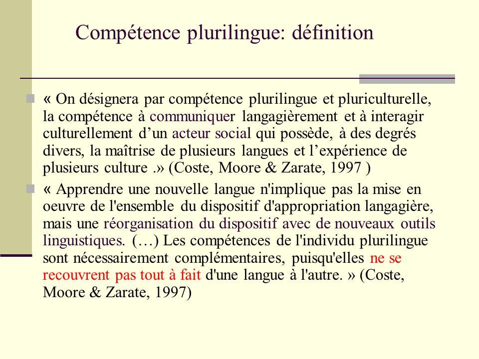 Compétence plurilingue: définition