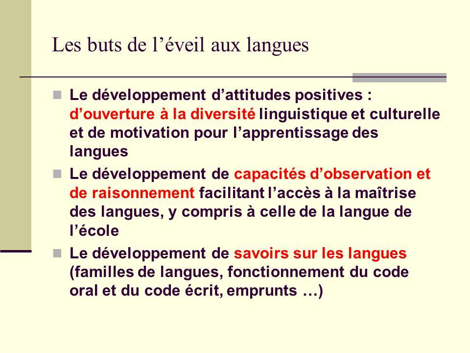 Les buts de l'éveil aux langues