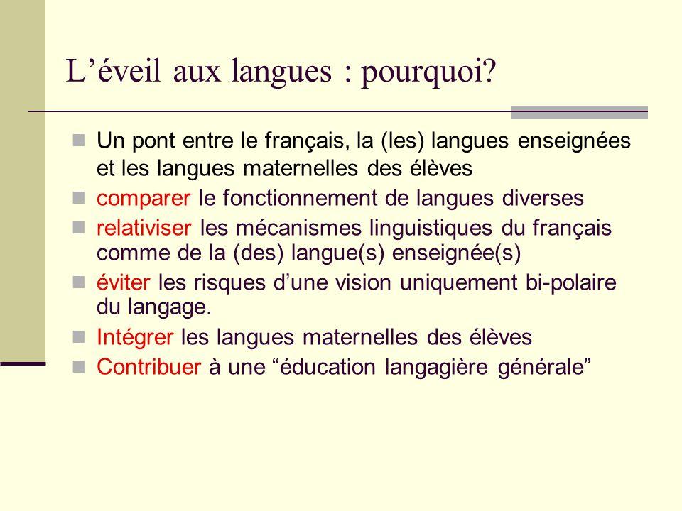 L'éveil aux langues : pourquoi