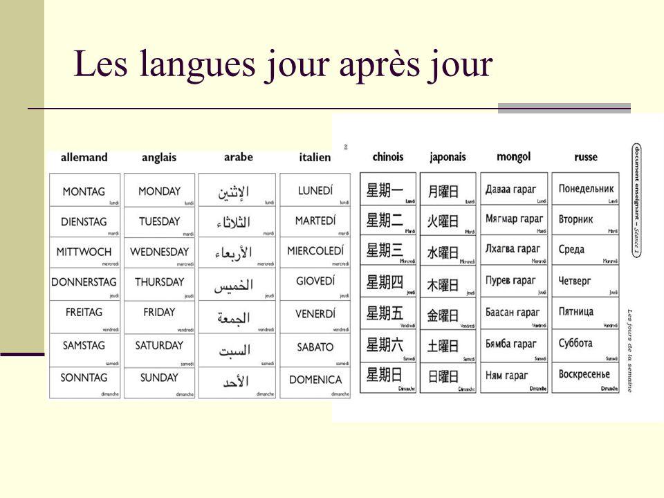 Les langues jour après jour