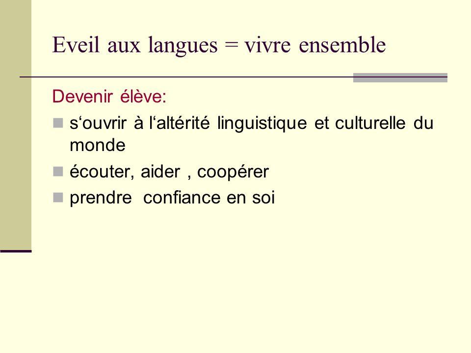 Eveil aux langues = vivre ensemble