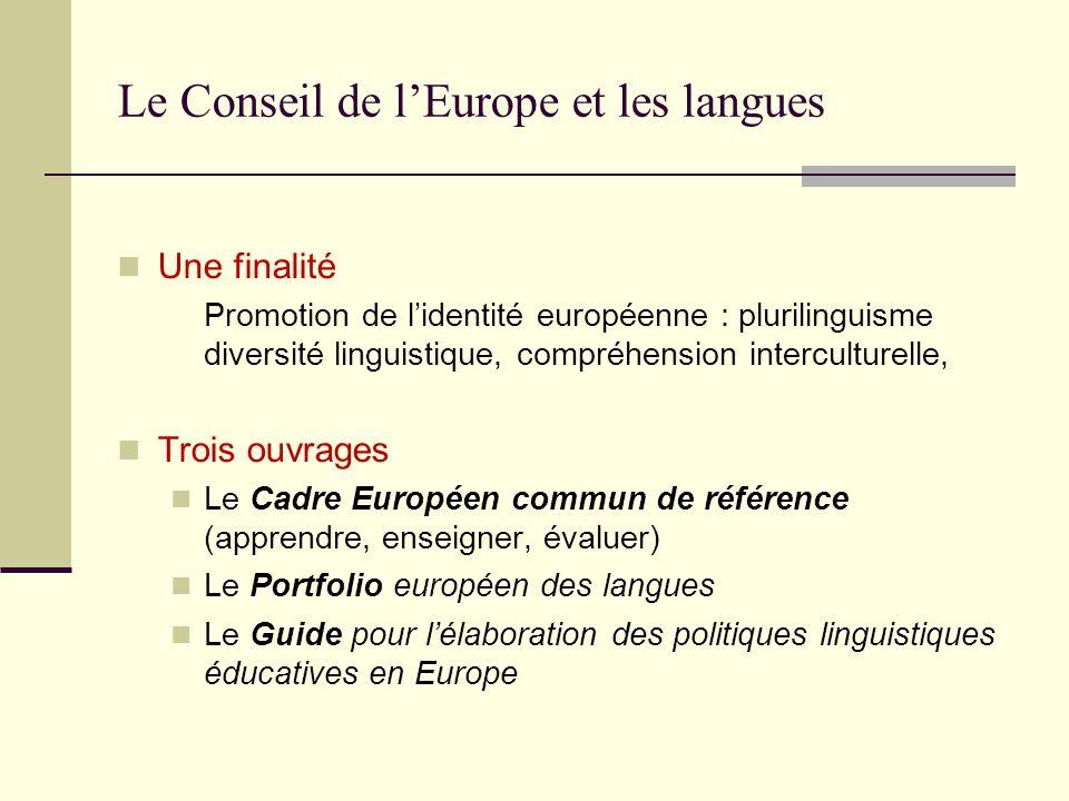 Le Conseil de l'Europe et les langues