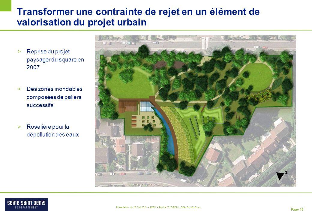 Transformer une contrainte de rejet en un élément de valorisation du projet urbain