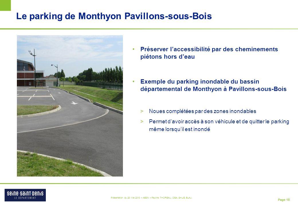 Le parking de Monthyon Pavillons-sous-Bois
