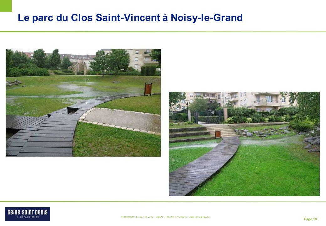 Le parc du Clos Saint-Vincent à Noisy-le-Grand
