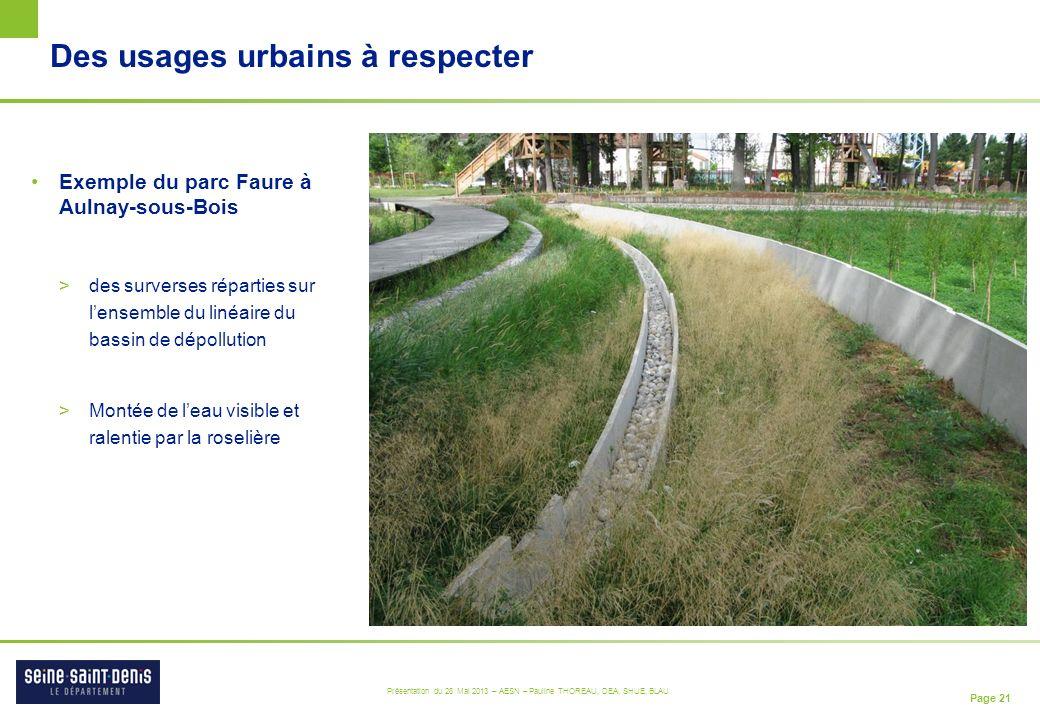 Des usages urbains à respecter