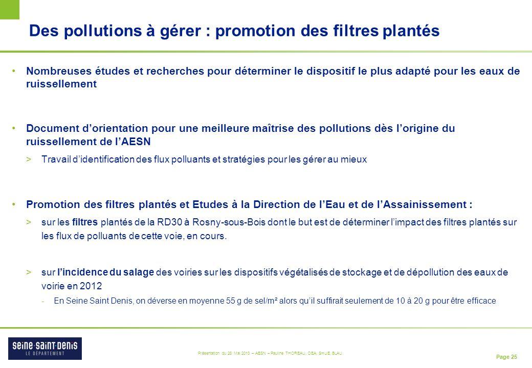Des pollutions à gérer : promotion des filtres plantés