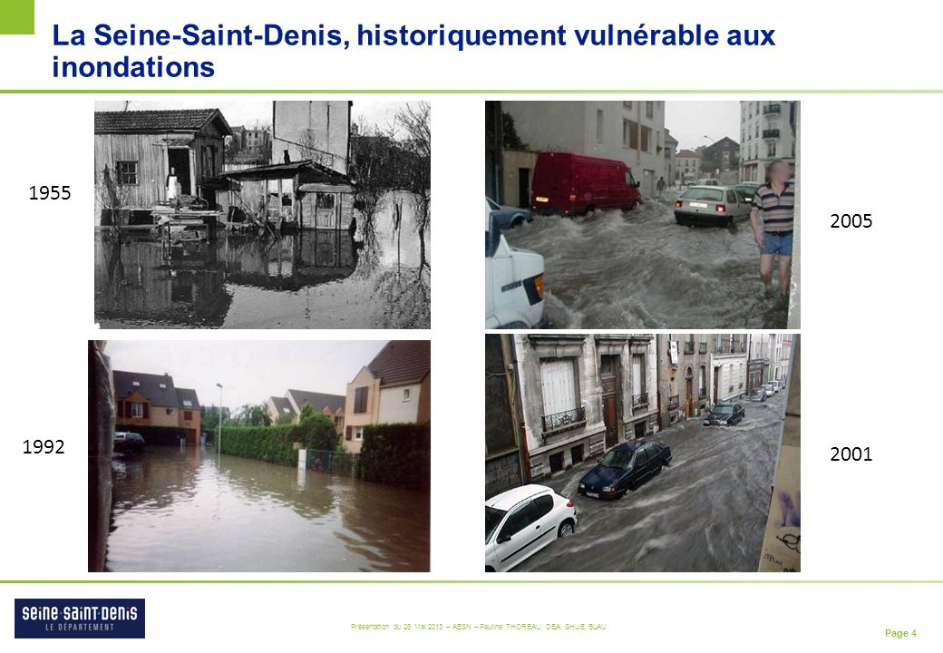 La Seine-Saint-Denis, historiquement vulnérable aux inondations