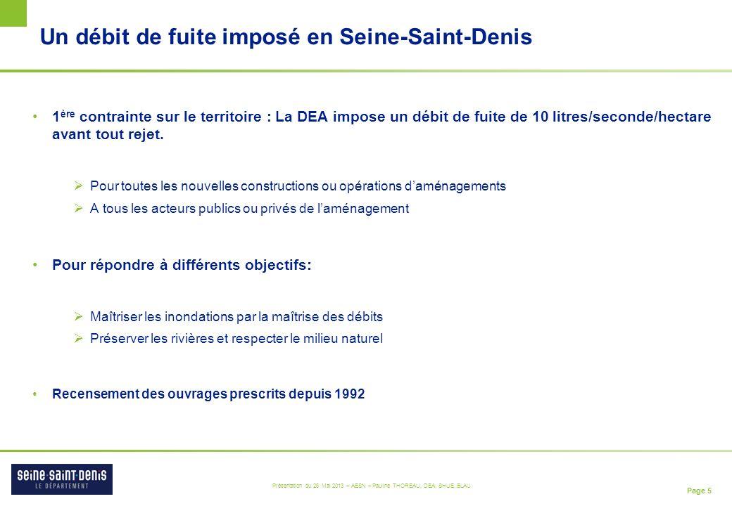 Un débit de fuite imposé en Seine-Saint-Denis