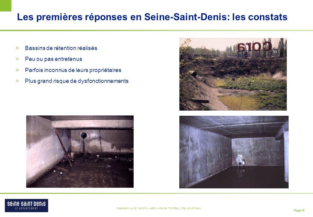 Les premières réponses en Seine-Saint-Denis: les constats