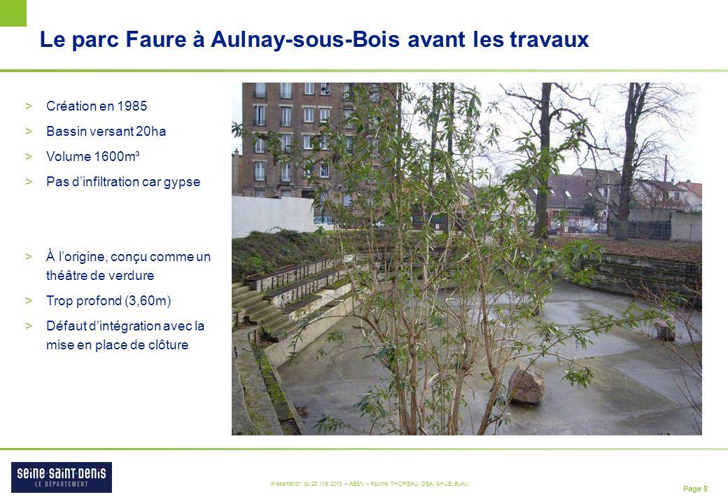 Le parc Faure à Aulnay-sous-Bois avant les travaux