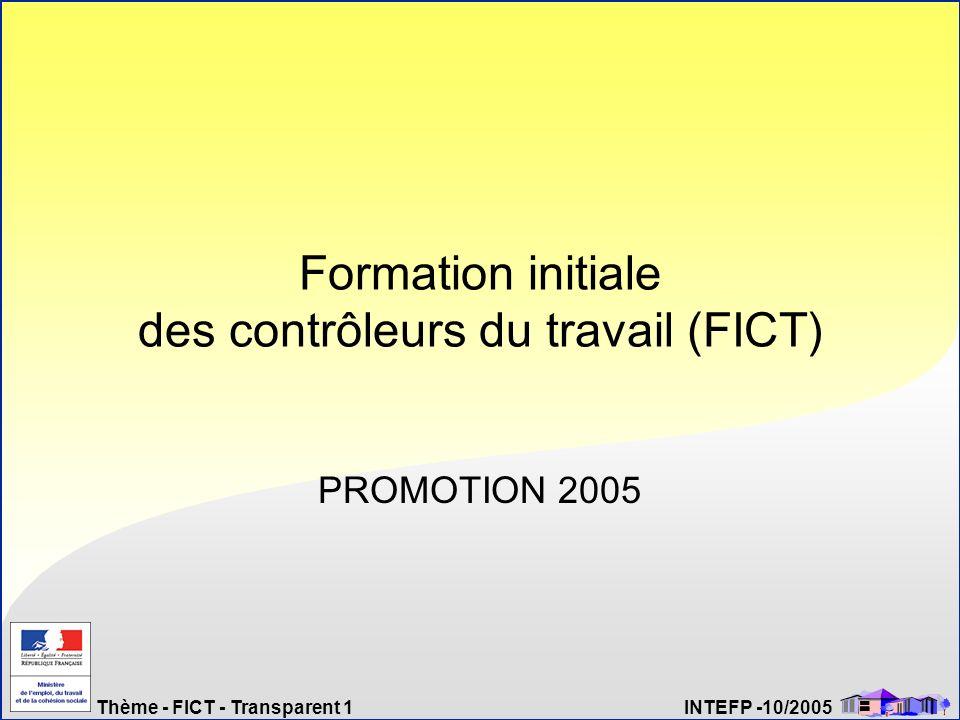 Formation initiale des contrôleurs du travail (FICT)