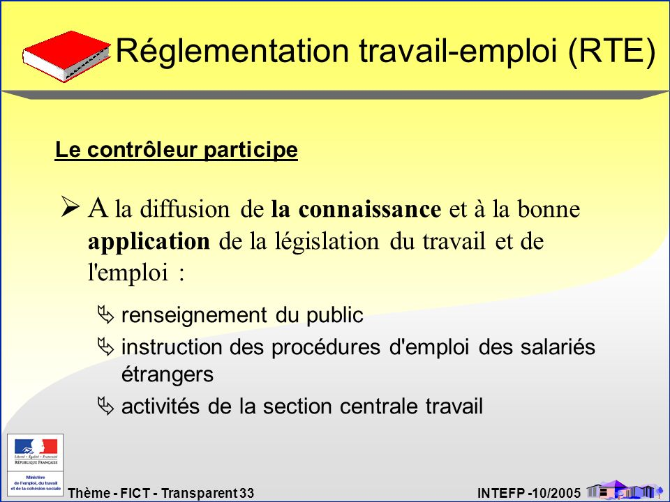 Réglementation travail-emploi (RTE)